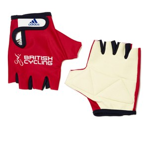 adidas British Cycling Team Race Gloves 2015 - Red
