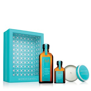 Moroccanoil Home & Away Original (25% Saving + free Candle worth £12.95)