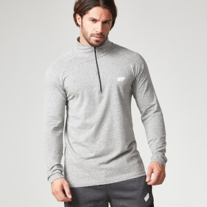 Myprotein Men's Performance Long Sleeve 1/4 Zip Top - Grey Marl