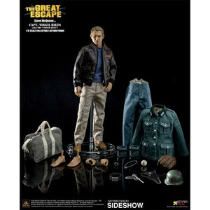 Star Ace Toys The Great Escape Steve McQueen Captain Virgil Hilts 1:6 Scale Figure