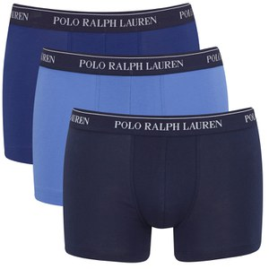 Polo Ralph Lauren Men's 3 Pack Trunk Boxer Shorts - Blue Denim