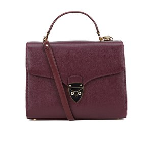 Aspinal of London Women's Mayfair Bag - Burgundy Saffiano