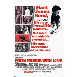 James Bond From Russia With Love - 24 x 36 Inches Maxi Poster