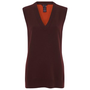 Theory Women's Audria Top - Cassis/Torch Red