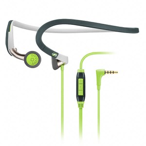 Sennheiser PMX 686G Sports Neckband Earphones Inc In-Line Remote & Mic - Green/Grey