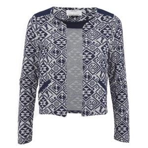 ONLY Women's Charlot Jacquard Jacket - Peacoat