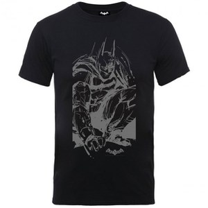 DC Comics Men's Batman Arkham Knight Sketch T-Shirt - Black