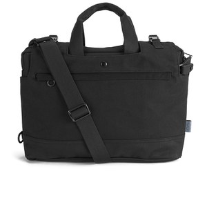 C6 Men's Double Zip Laptop Bag - Black Canvas