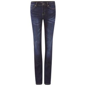 Vero Moda Women's Denim Slim Bootcut Jeans - Dark Blue Denim