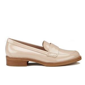 HUGO Women's British-P Leather Heeled Loafers - Light Beige