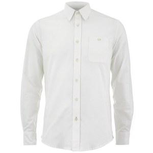 Knutsford x Tripl Stitched Men's Long Sleeve Oxford Shirt - Cream