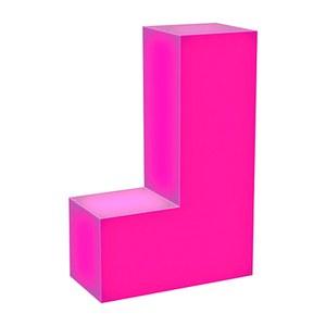 Tetris J Tetrimino Light Sculpture