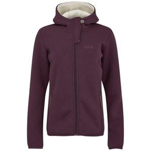 Jack Wolfskin Women's Terra Nova Hooded Jacket - Dark Berry