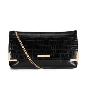 Dune Edee Clutch Bag - Black Croc