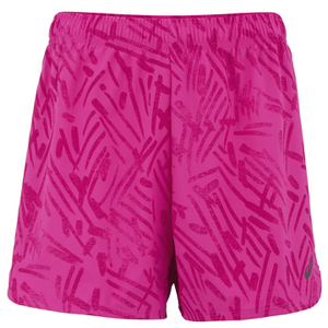 Asics Women's Woven 5.5 Inch Running Shorts - Pink Glow Palm
