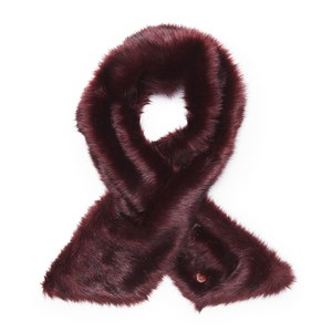 Ted Baker Women's Tesha Faux Fur Textured Long Scarf - Oxblood