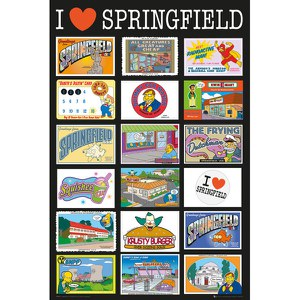 The Simpsons Postcards - 24 x 36 Inches Maxi Poster
