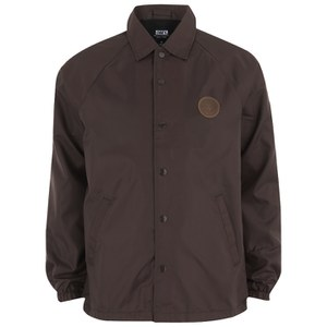 OBEY Clothing Men's Mercer Lined Coaches Jacket - Burgundy Brown