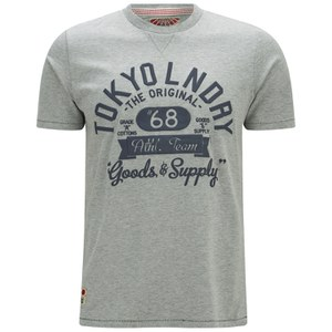 Tokyo Laundry Men's Logo T-Shirt - Light Grey Marl