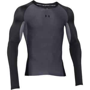 Under Armour Men's Clutchfit 2.0 Compression Long Sleeve T-Shirt - Grey/Silver