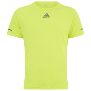 adidas Men's Sequencials Running T-Shirt - Yellow