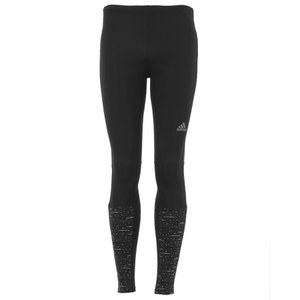 adidas Men's Supernova Graphic Long Running Tights - Black