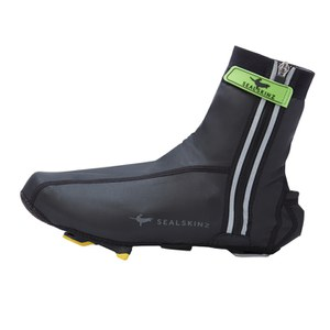 SealSkinz Lightweight Halo Overshoes - Black/Red