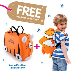 Trunki Tipu Suitcase with Free Chuckles PaddlePak