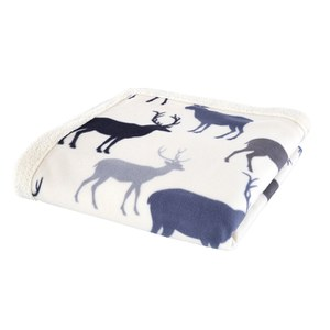 Catherine Lansfield Grampian Stag Throw - Navy