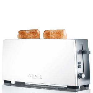 Graef 2 Slice Long Shot Toaster - White Gloss