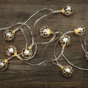 Silver Globe Lights