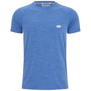Myprotein Miesten Performance Short Sleeve Top - Sininen Marl