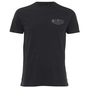 Luke 1977 Men's Progressive Mesh Pocket Crew Neck T-Shirt - Black