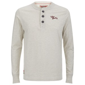 Tokyo Laundry Men's Channing Button Long Sleeve Top - Oatgrey Marl