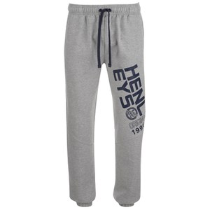 Henleys Men's Sloped Logo Sweatpants - Athletic Grey Marl