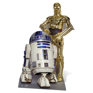 Star Wars The Droids R2-D2 and C-3PO Cut Out