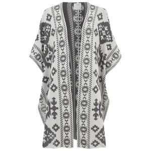 Vero Moda Women's Myra Knitted Cape - Antique White