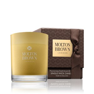 Molton Brown Mesmerising Oudh Accord and Gold Single Wick Candle Christmas Edition