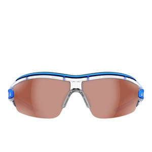 adidas Evil Eye Halfrim Pro Sunglasses - Crystal/Blue/Active Silver