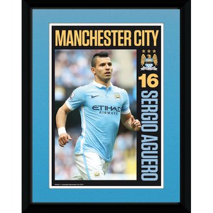 Manchester City Aguero 15/16 - 8 x 6 Inches Framed Photographic