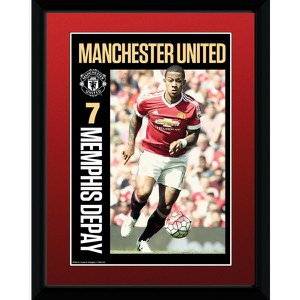 Manchester United Depay 15/16 - 8 x 6 Inches Framed Photographic
