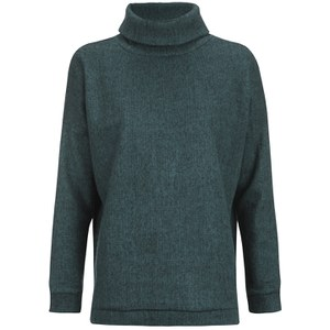 ONLY Women's Pine Loose Pullover Knitted Jumper - Reflecting Pond