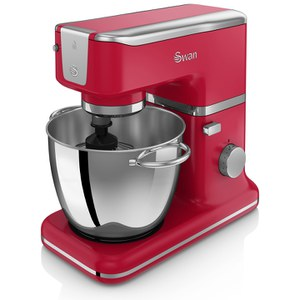 Swan SP21010RN Retro Stand Mixer - Red - 1000W