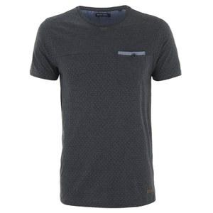 Brave Soul Men's Ginn Dot Print T-Shirt - Mid Charcoal Marl