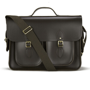 The Cambridge Satchel Company Men's Multi Pocket Batchel - Dark Brown
