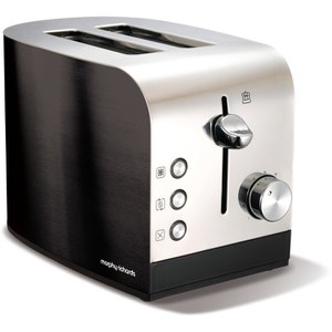 Morphy Richards 44209 Accents Polished 2 Slice Toaster - Black