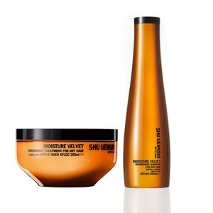Shu Uemura Art of Hair Moisture Velvet Treatment (200ml) and Shampoo (300ml)
