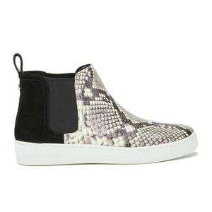 MICHAEL MICHAEL KORS Women's Keaton Embossed Printed Snake Hi-Top Skaters - Black