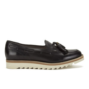 H Shoes by Hudson Women's York Leather Tassel Loafers - Black