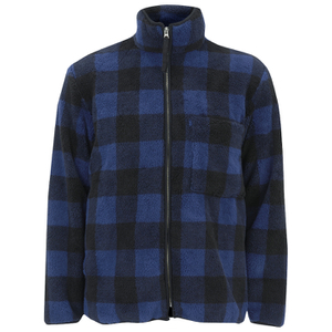 Our Legacy Men's Funnel Neck Jacket - Polarfleece Check